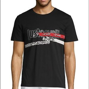 Just Cavalli Men's Graphic Cotton Short-sleeve tee